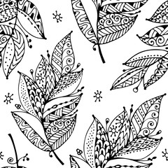 Feathers, seamless pattern for your design