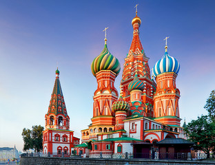 Moscow, Russia - Red square view of St. Basil's Cathedral