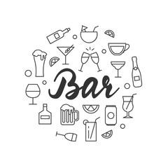 Bar vector illustration
