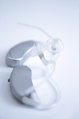 Hearing aid for deaf people