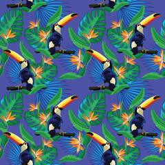 Toucan seamless pattern.