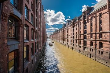 Warehouse district of Hamburg (Speicherstadt), Germany.