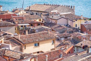 Italien Dächer Gardasee