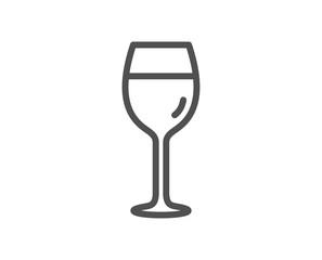 Wine glass line icon. Bordeaux glass sign. Quality design element. Classic style wine. Editable stroke. Vector