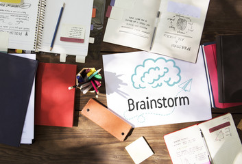 Text Brainstorm in a workspace