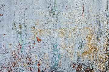 Grunge rusted metal texture, rusty and blue gray oxidized metal background. Old metal iron panel. Blue gray metallic rusty surface. Textured Background in Grunge Style.