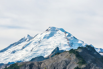 scenic view of top of mt Baker,covered with snow ,Washington,USA.