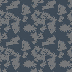 UFO military camouflage seamless pattern in navy blue and grey colors