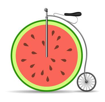 Retro citrus bicycle