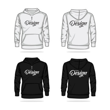 Sweater Jacket Template Mock up