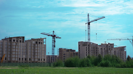 view of the construction of a new district