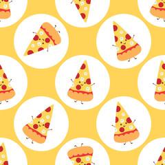 Pizza time sticker pattern