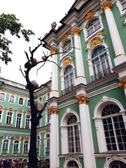 Saint Petersburg, Russia - August 4, 2018: Winter Palace. The State Hermitage Museum