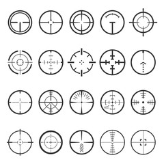 Crosshairs icon set vector illustration on white background