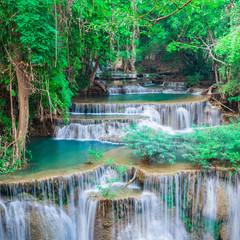 Wall Mural - Landscape waterfall at Kanchanaburi, Thailand
