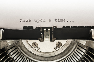 Once upon a time typed on a vintage typewriter