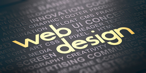 Web Design Background. Visual Communication Concept