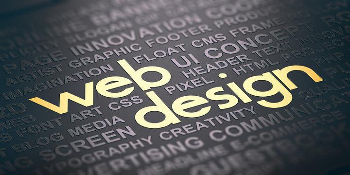 Web Design Background. Visual Communication Concept