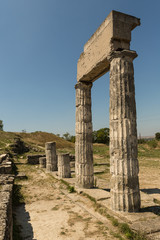 Recess Fitting Ruins ruins of ancient Panticapaeum in Kerch, Crimea on mount Mithridates