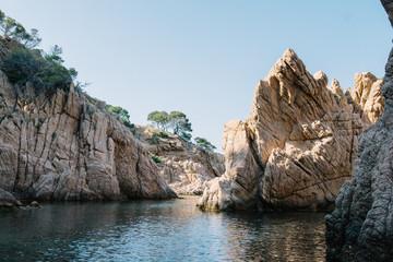 Paysage des criques Costa Brava mer Méditerranée