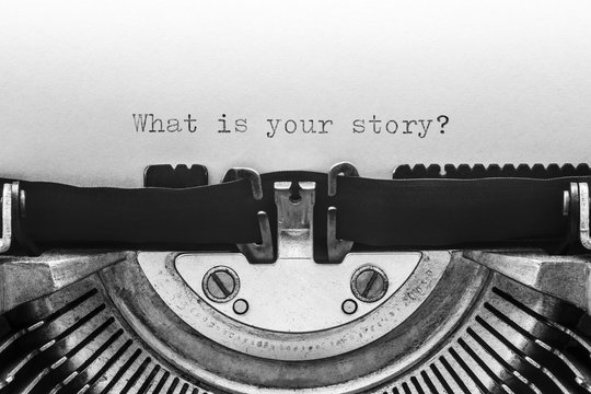 What is your story typed on a vintage typewriter