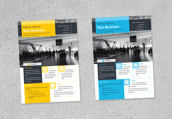 Flyer Layout with Colorblock Elements