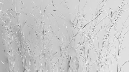 Paper flower on a white background. 3d illustration, 3d rendering.