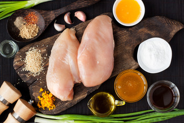 ngredients for chicken in orange sauce