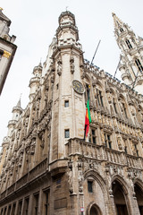 Brussels town hall building located on the famous Grand Place in Brussels