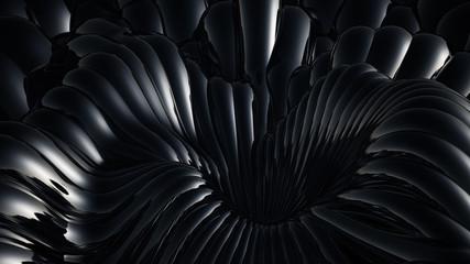 Black metallic background. 3d illustration, 3d rendering.