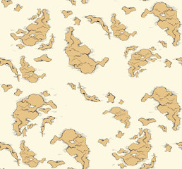 Geographic map. Vector drawing