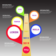 Abstract timeline of business Vector illustration