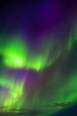 Apatity, Kola Peninsula. Aurora Borealis in April. Flashes