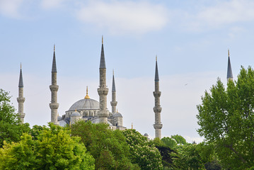 top view of the Blue Mosque in Istanbul