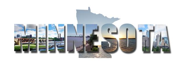 Minnesota collage shape
