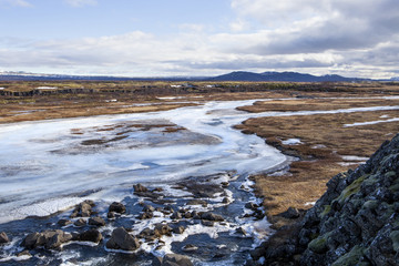 The river tributary at Thingvellir