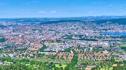 Panoramic view of Zurich in Switzerland