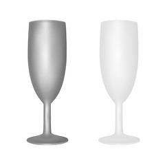 Glasses for drinks frosted glass in the vector.