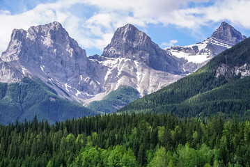 Three Sisters Mountain in Canmore, Alberta Canada