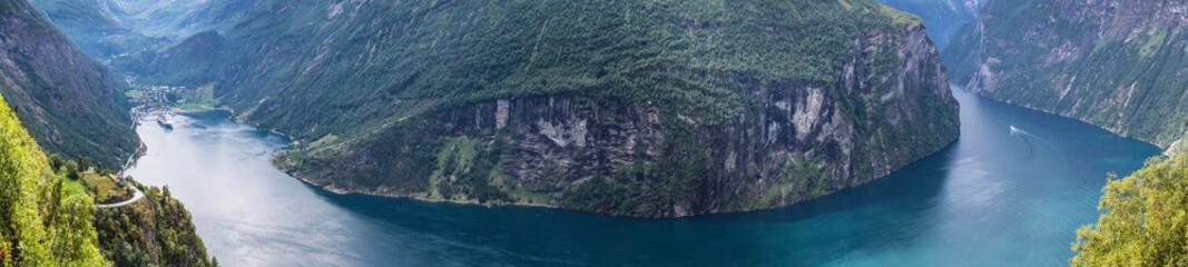 Türaufkleber Skandinavien Geiranger Fjord Norwegen Panorama