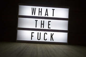 'What the fuck' text in lightbox