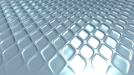Gray geometric background with relief. 3d illustration, 3d rendering.
