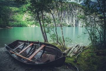 Wall Mural - Wooden Fishing Boat