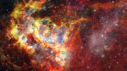 Galaxy and Nebula. Cosmos space. Elements of this Image Furnished by NASA.