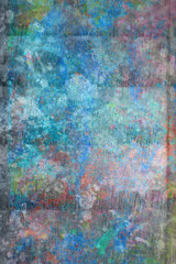 Abstract, hand painted colorful wooden background