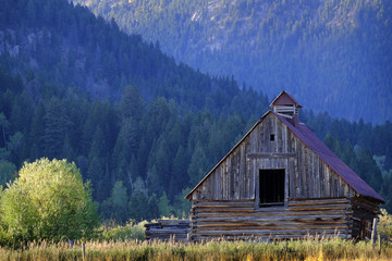 Mountain Wilderness Old Barn Vintage Building Abandoned