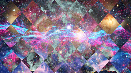 Galaxy and Nebula. Space background. Elements of this Image Furnished by NASA.