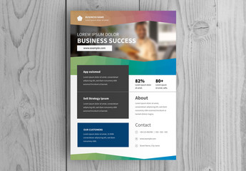 Multicolored Business Flyer Layout