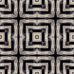 Seamless, gray, white, tan, black geometric pattern. Abstract design, illustration for wallpaper, fabric, print.