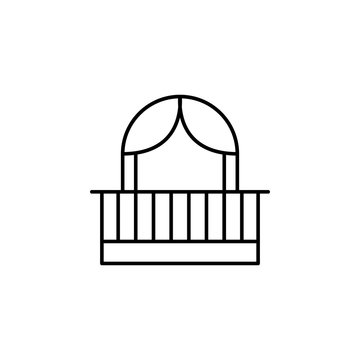 facade balcony icon. Element of architecture icon for mobile concept and web apps. Thin line facade balcony icon can be used for web and mobile
